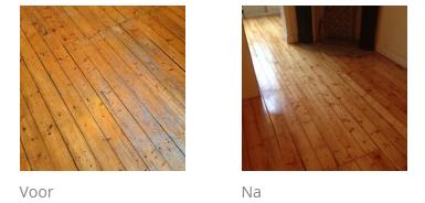 voor en na foto's van vloerrenovatie